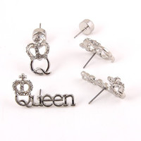 Crown Queen Stud Set (3pc)