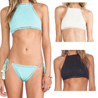 Cotton Sexy Spagehetti Strap Sexy Bikini Swim Suit Beach Bathing Suits Sexy Braleete Bra Top  Women Tank Vest_ 264