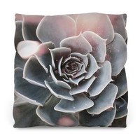 Shiny Succulent Throw Pillow