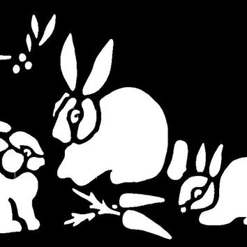 Stencil Bunnies Brass