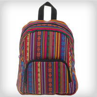 Brown Red Native Stash Backpack