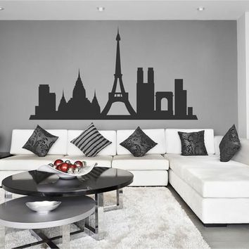 ik2379 Wall Decal Sticker Paris France city hall bedroom panorama attractions