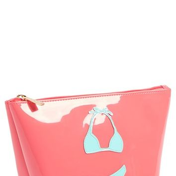 Women's Lolo 'Bikini' Medium Pouch - Blue/ Coral