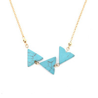 With Love From CA Turquoise Triangle Necklace at PacSun.com