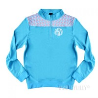 Monogrammed Lightweight Patchwork Pullover | Marley Lilly