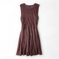 AEO MIXED KNIT FIT & FLARE DRESS