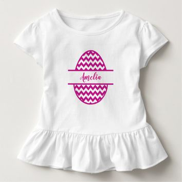 Pink Easter Egg, with Name. Toddler T-shirt