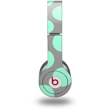 Kearas Polka Dots Mint And Gray Decal Style Skin (fits Beats Solo HD Headphones - HEADPHONES NOT INCLUDED)