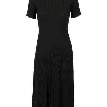 Black Backless Bowknot Back Knit Midi Dress