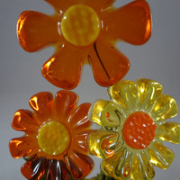 Molded Plastic Flowers l969 Feelin' Groovy