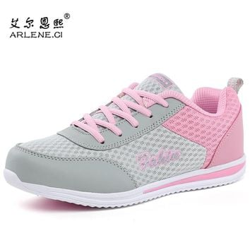 2018 Women Tennis Shoes Stability Athletic Jogging Sports Shoes Summer Platform Women Breathable Super Light Sneakers Trainers