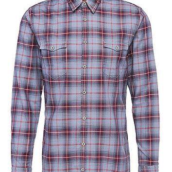 'EdoslimE' | Slim Fit, Cotton Plaid Button Down Shirt by BOSS Orange