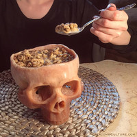 Human Skull Bowl (Food Safe)
