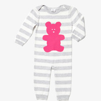 Egg Baby Striped Knit Layette - MegentaW4CK9030 - FINAL SALE