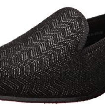MEZLAN MENS ARISTOTLE TUXEDO LOAFER, BLACK, 10 M US