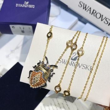 HCXX 19July 423 Swarovski MAGNETIC Explores the Fantasy Secrets of the Golden Tortoise Kids Necklace Sweater Chain