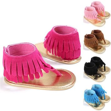 Newborn Infant Baby Kids Pram Crib Fringe moccasins Shoes