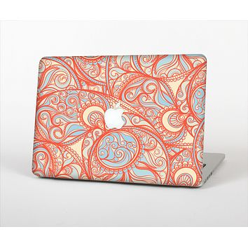 The Coral Abstract Pattern V34 Skin Set for the Apple MacBook Air 11""