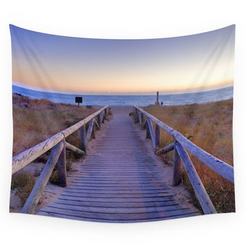 Society6 The Path..., The Beach.... Wall Tapestry