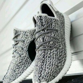 """""""Adidas"""" Yeezy Boost Trending Unisex Leisure Sneakers Running Sports Shoes Grey Black Dots I"""