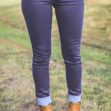 Classic City Skinnies in Grey