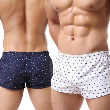 Men Underwear Boxer Shorts Trunks Slacks Cotton Men Cueca Boxer Shorts Underwear Printed Men Shorts Home Underpants jjk2