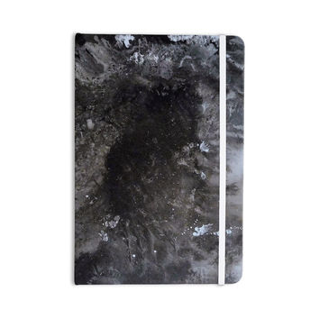 "Abstract Anarchy Design ""Crepuscular Nebula"" Gray Black Everything Notebook"
