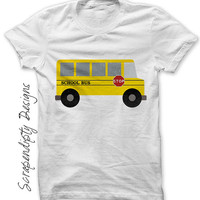 School Bus Shirt PDF - Bus Iron on Transfer / Kids First Day of School Tshirt / Womens Teacher Shirt / Yellow School Bus / Toddler IT509-P