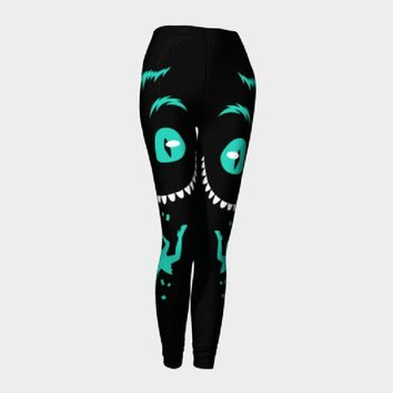 Women Alice in Wonderland Cheshire cat 3D Print leggings high waist leggins pant drop ship
