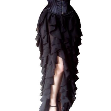 Steampunk Gothic Lace Maxi Skirt