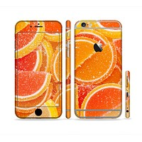 The Orange Candy Slices Sectioned Skin Series for the Apple iPhone 6 Plus