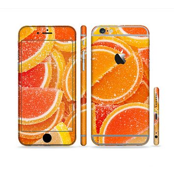 The Orange Candy Slices Sectioned Skin Series for the Apple iPhone 6/6s Plus