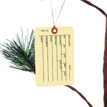 Funny Autopsy Toe Tag Christmas Tree Ornament
