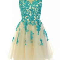 Kamilione Sweetheart Tulle and Lace Short Homecoming Bridesamdid Prom Dress