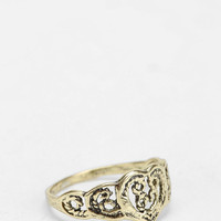 Filigree Heart Midi Ring - Urban Outfitters