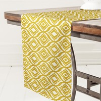 Heather Dutton Trevino Yellow Table Runner