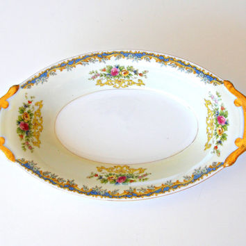 Vintage Kikusui China Celery Dish KIK13 Floral Pattern Fine China Serving Dish Made in Japan