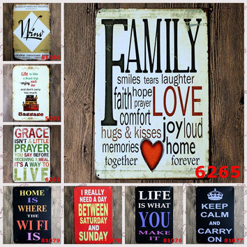 Keep Calm and Carry On I really Need a Day Between Sat and Sun Family Love Joy Home Forever Vintage Wall Art Retro Tin Posters