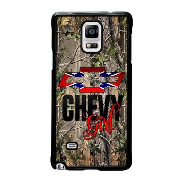 CAMO BROWNING REBEL CHEVY GIRL Samsung Galaxy Note 4 Case Cover
