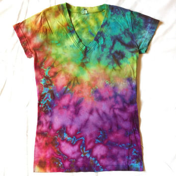 Rainbow Acid Wash Ice Dye Women's Size S