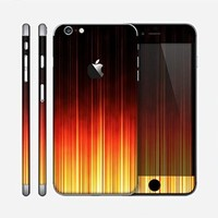 The Fiery Glowing Gradient Stripes Skin for the Apple iPhone 6 Plus