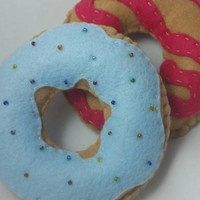 Donut felt set play food, pretend, childrens playfood set, felt donuts, childrens toy