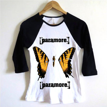 Paramore Butterfly Baseball Tee