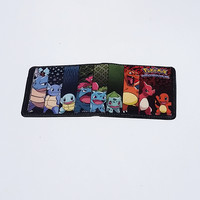 Pokemon - Charmander, Bulbasaur, Squirtle Wallet