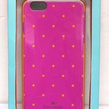 NEW Kate Spade Hybrid Hard Shell Case for Apple iPhone 6/6s Plus - Pink/Orange