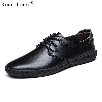 Road Track Men Loafers Fashion Men's Casual Shoes Summer Autumn Leather Penny Loafer Dress Boat Driving Shoes