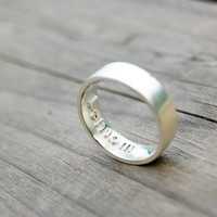 Personalized Custom Imprint Name Ring,Initial Band,Engagement Band