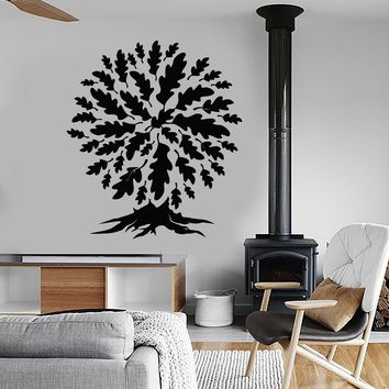 Vinyl Wall Decal Oak Forest Tree Leaves Nature Stickers (2297ig)