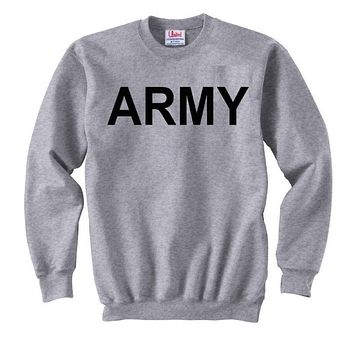 'Army' Crew Neck Sweatshirt