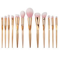 12Pcs Nylon Rose Gold Pink Makeup Brushes Set Foundation Face Powder Eyeshadow Eyeliner Lip Blush Brush Tool Kit GUB#